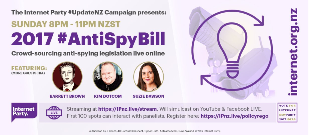 #AntiSpyBill Event Tonight Featuring Lauri Love, Kim Dotcom, Lee Camp, Suzi Dawson, and more – The Cryptosphere