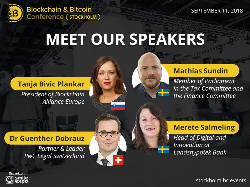 Who Will Speak at Blockchain & Bitcoin Conference Stockholm?