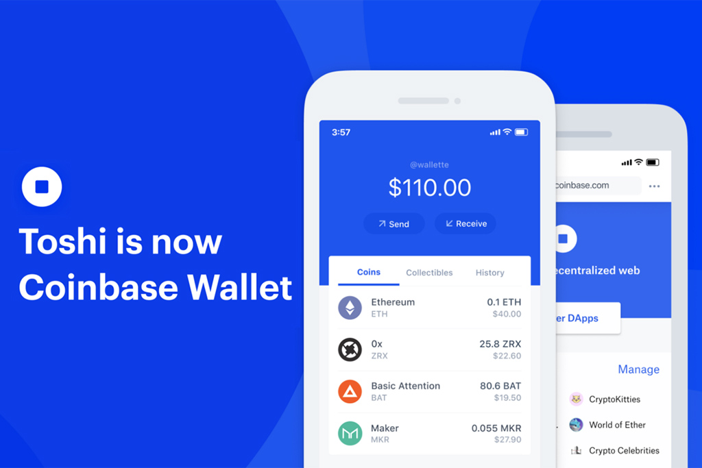 Coinbase' Toshi Receives New Features and Turns into Coinbase Wallet