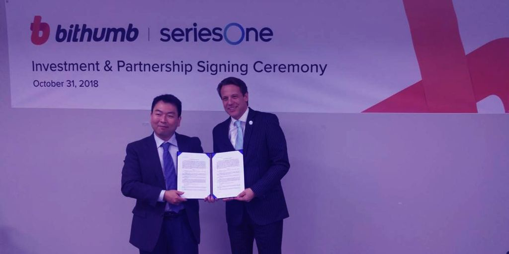 Bithumb And seriesOne To Create US Security Token Exchange